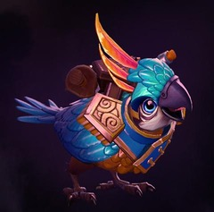 Le Lieutenant Squawkins, coursier The International 2014