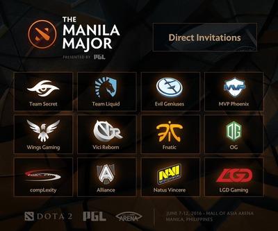 Les invités au Major de Manille