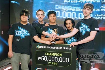 Zephyr victorieux à la Nexon Sponsorship League