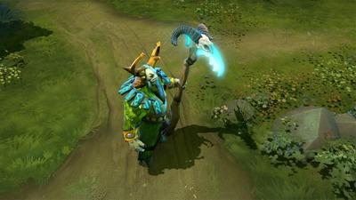 Certains héros peuvent aussi équiper une Scythe of Vyse cosmétique : ici, Nature's Prophet