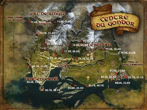Caches aux trésors : Centre du Gondor