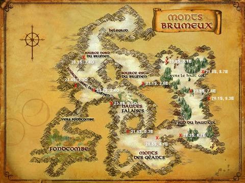 Caches aux trésors Monts Brumeux