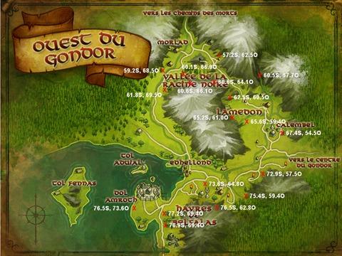 Caches aux trésors Ouest du Gondor