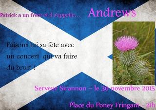 Lundi 30 novembre, Hiragil fête la St Andrews