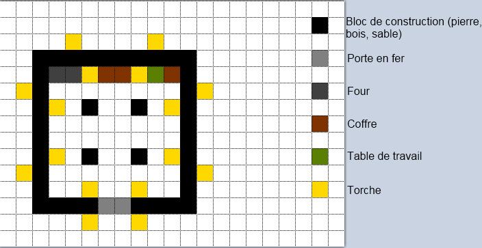 Bekannt Minecraft plan de construction maison moderne - Maison François Fabie FV07