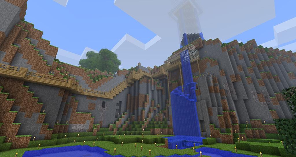 Great Minecraft Temple With Minecraft Maison En Bois.