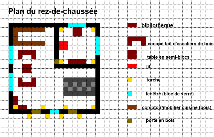Minecraft Construction Plan Chateau
