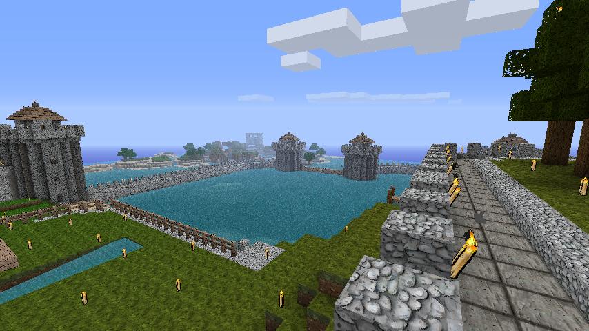 minecraft fishing house - 854×480