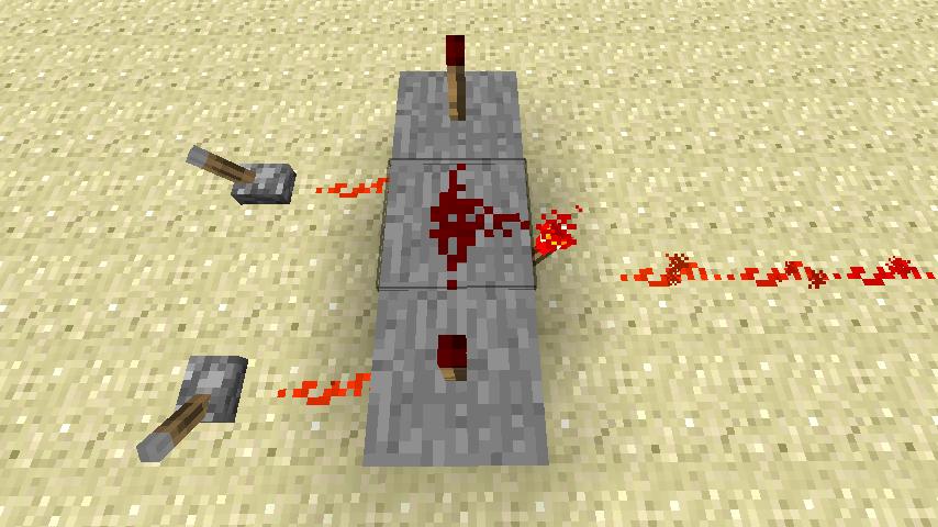 Les ep es du vent la redstone circuits for Porte and minecraft