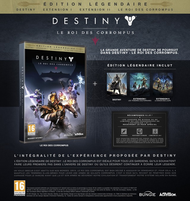 Destiny: Le Roi des Corrompus - Edition Collector