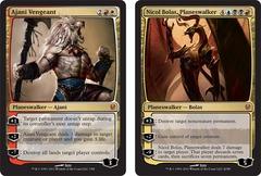 Les deux cartes Premiums d'Ajani versus Bolas