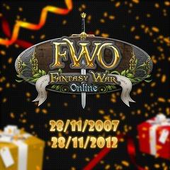 Fantasy War Online fête ses cinq ans