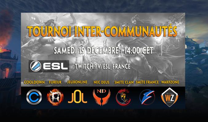 Tournoi Inter-communautés francophones | Samedi 19 décembre 2015