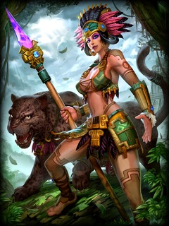 Awilix arpente la jungle de Smite