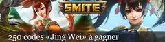 Distribution : 250 codes SMITE pour débloquer la déesse Jing Wei et son skin Ressuscitée