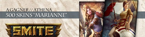 Jeu-concours SMITE : Athena et des skins « Marianne » exclusifs à gagner