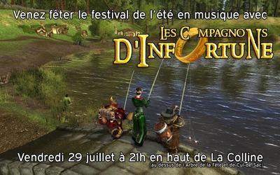 Concert : de la musique au festival d'été le 29 juillet