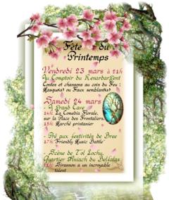 Réservez vos 23 et 24 mars, on célèbre le printemps !