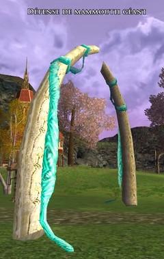 Défense de mammouth géant