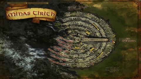 La carte de Minas Tirith