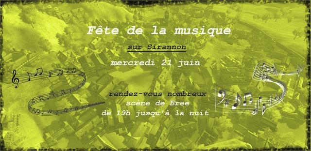 Sirannon fête la musique mercredi 21 juin