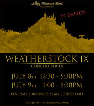 8 & 9 juillet 2017 : Assistez aux pré-sélections du Weatherstock