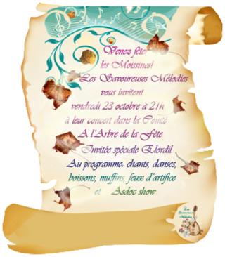 Concert des Savoureuses Mélodies le 23 octobre 2015