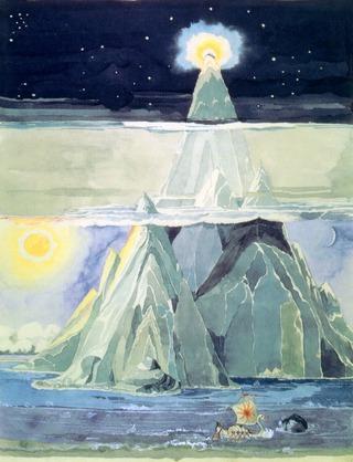 Dessin de Tolkien - Halls of Manwe