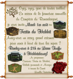 Animation : Participez au festin du Hobbit
