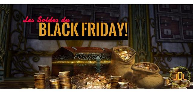 Les soldes du black friday sur le Seigneur des Anneaux Online