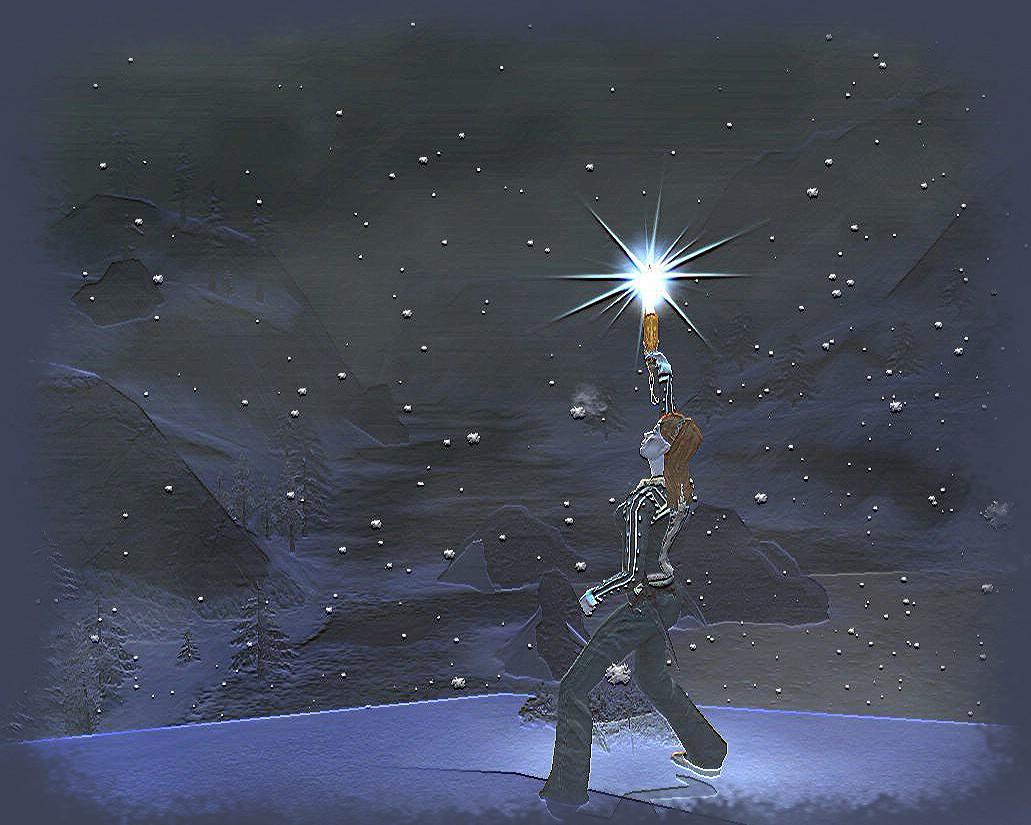 Une lueur d'espoir au coeur de la tempête.