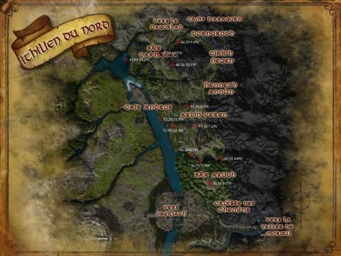 Carte trésors Ithilien du Nord