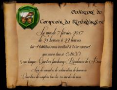 Ouverture et concert au comptoir du Renard d'Argent mardi 7 février
