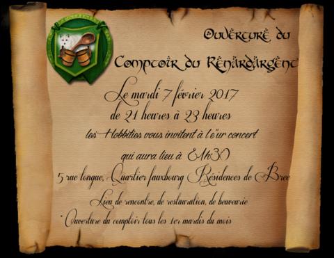 Le Seigneur des Anneaux Online - Ouverture et concert au comptoir du Renard d'Argent mardi 7 février
