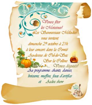 Concert des Savoureuses Mélodies dimanche 29 octobre