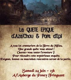 Aza'Chou et Pom d'Epi, une journée de conquête et d'aventure épique pour les un an du site