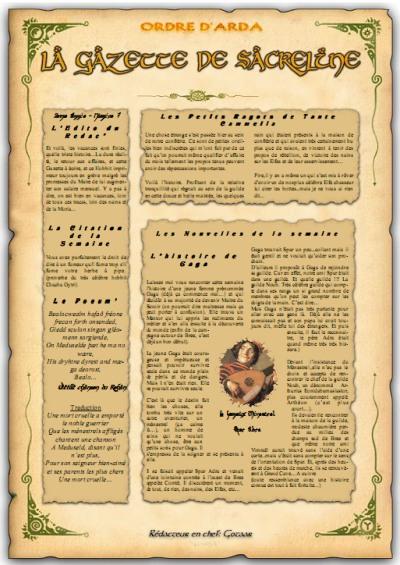 Gazette de Sacreline