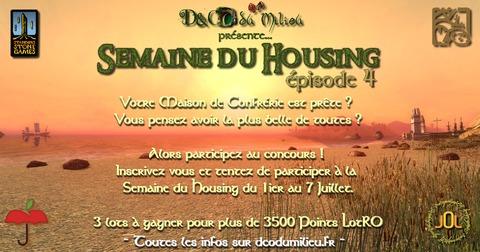 Le Seigneur des Anneaux Online - Semaine du Housing #4 : D&Corez vos maisons de confrérie