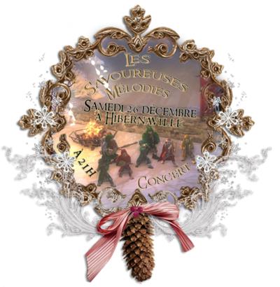 Les Savoureuses mélodies en concert à Hibernaville le 26 décembre