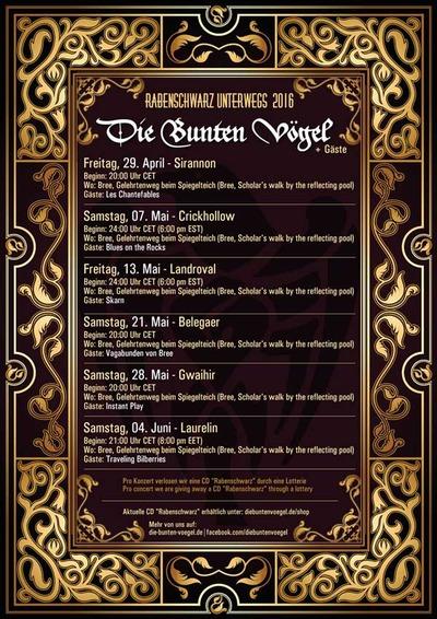 Concert des Die Bunten Voegel ce vendredi 29 avril à 20h00