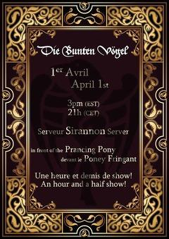 Les Die Bunten Vögel en concert sur Sirannon, samedi 1 avril à 21h00