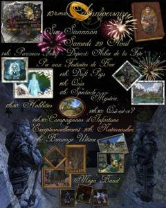 Fête du 10ème anniversaire sur Sirannon, Samedi 29 avril