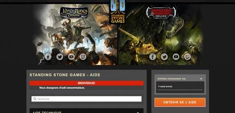 Le Seigneur des Anneaux Online - Standing Stone Games change de site de support pour le SdAO et DDO