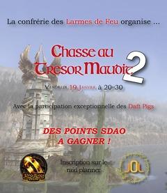 Participez à la chasse au trésor organisée par les Larmes de Feu le 19 janvier