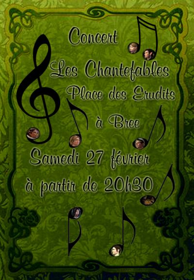 Les Chantefables sonorisent Bree le 27 février