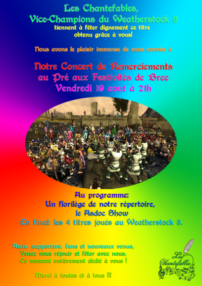Florilège des Chantefables en concert vendredi 19 août à 21h