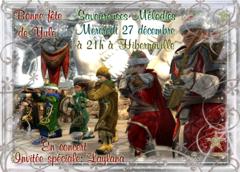 Concert des Savoureuses Mélodies mercredi 27 décembre à 21h00