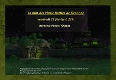 Vendredi 23 février : la nuit des Music Battles sur Sirannon