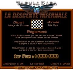 La Descente Infernale : le nouvel event du clan Technomancia le 11/04