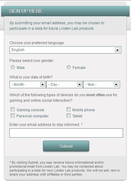 Linden Lab - Participez aux beta des nouveaux produits de Linden Lab